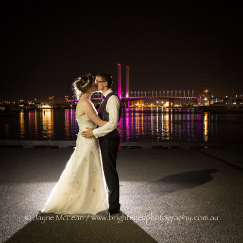 melbourne night photography, docklands wedding, bright eyes photography