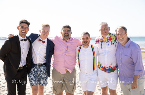 sandy by the bay wedding, same sex wedding, mornington peninsula wedding photographer, love is love