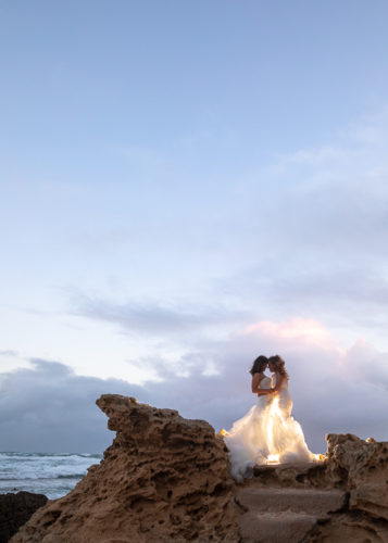 love is love wedding photo of two brides at All Smiles Sorrento