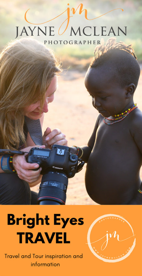 Jayne McLean travel photographer, African photography tours, Omo Valley photo tours image of Hamer tribe child and Jayne McLean